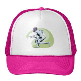 Pink Fencing Trucker Hat