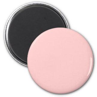 Pink #FFCCCC Solid Color 6 Cm Round Magnet