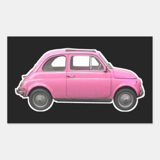 Pink Fiat 500 Cinquecento vintage sixties car Rectangular Sticker