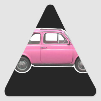Pink Fiat 500 Cinquecento vintage sixties car Sticker