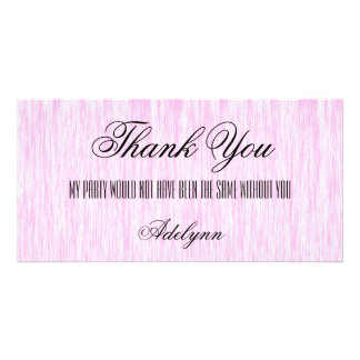 Pink Fiber Customised Photo Card
