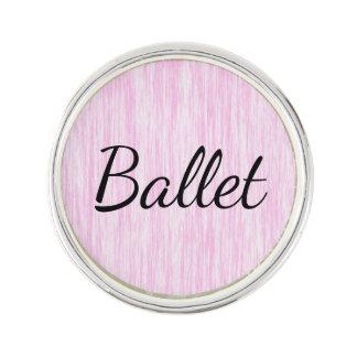 Pink Fiber Lapel Pin