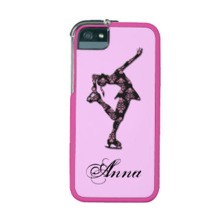 Pink Figure Skater Personalized I-phone case iPhone 5 Cases
