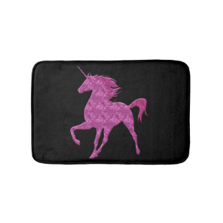 Pink Fire Unicorn Bath Mat