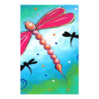 Pink Firefly Design Stationery Paper