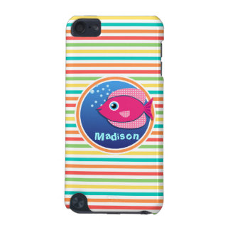 Pink Fish Bright Rainbow Stripes iPod Touch 5G Cover