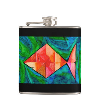 Pink Fish Flask
