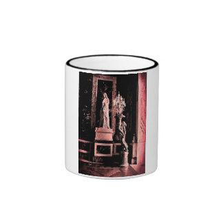 Pink Fisheye Versailles Statue Ringer Mug