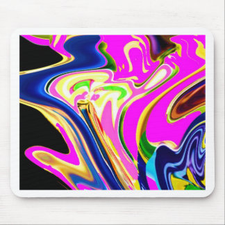 Pink Flair Waves : Happiness, Healing n Smiles Mouse Pad