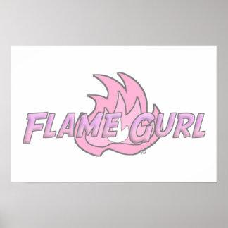 Pink Flame Gurl Logo Poster