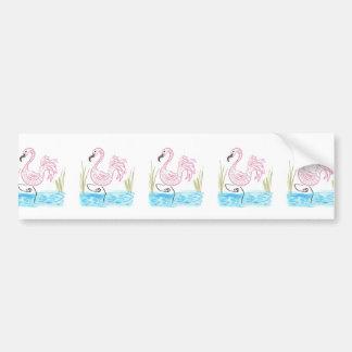 Pink Flamingo #13 by EelKat Wendy C Allen Bumper Sticker