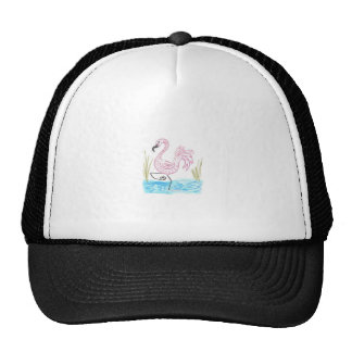 Pink Flamingo 13 wide boarder Cap