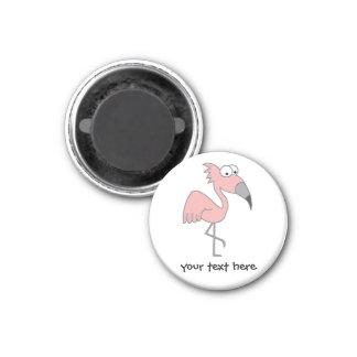 Pink Flamingo 3 Cm Round Magnet