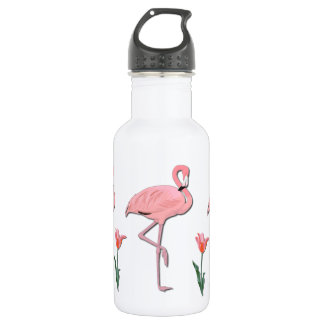 Pink Flamingo 532 Ml Water Bottle