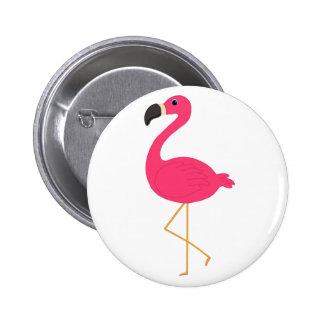 Pink Flamingo 6 Cm Round Badge