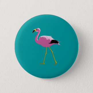 Pink Flamingo 6 Cm Round Badge