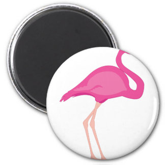Pink Flamingo 6 Cm Round Magnet