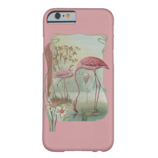 Pink Flamingo Art Nouveau Design Barely There iPhone 6 Case