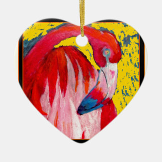 Pink Flamingo Art  Painting by Sharles Christmas Ornament