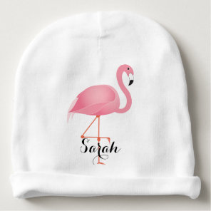 Pink Flamingo Baby Beanie