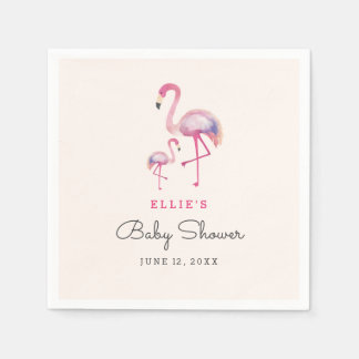 Pink Flamingo Baby Shower Napkin Disposable Serviettes