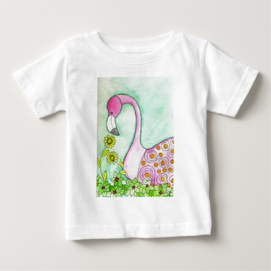 Pink Flamingo Baby T-Shirt