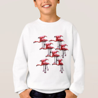 Pink Flamingo Bird Design Sweatshirt