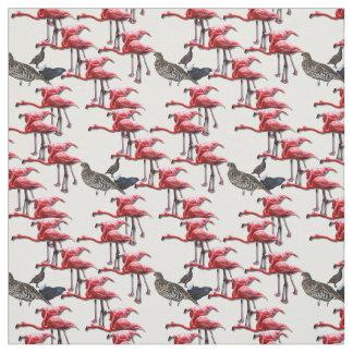 Pink Flamingo Bird Print Fabric