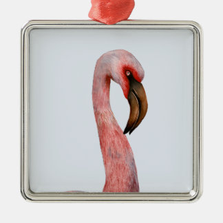 Pink Flamingo Bird Watercolour Painting Artwork Christmas Ornament