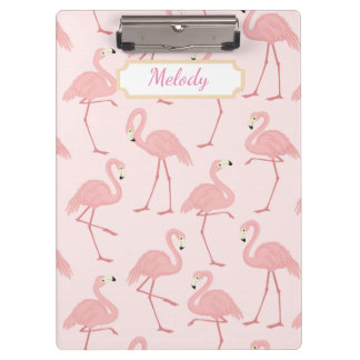 Pink Flamingo Bliss Clipboards