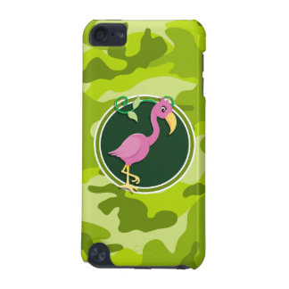 Pink Flamingo bright green camo camouflage iPod Touch 5G Case