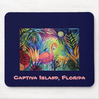 Pink Flamingo - Captiva Island, Florida Mouse Mat