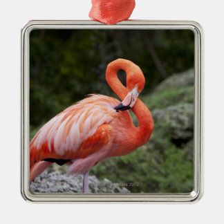 Pink Flamingo Christmas Ornament