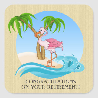 Pink Flamingo Congrats retirement sticker