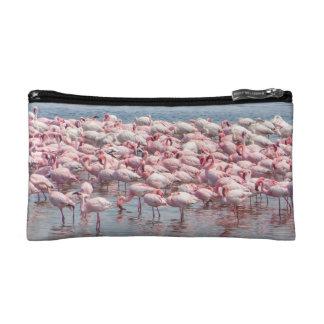 Pink flamingo cosmetic case