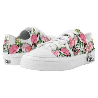 Pink Flamingo Design Sneakers