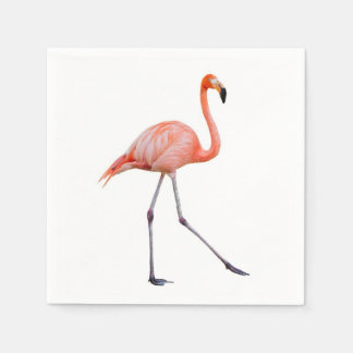 Pink Flamingo Disposable Napkins