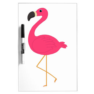 Pink Flamingo Dry Erase Board