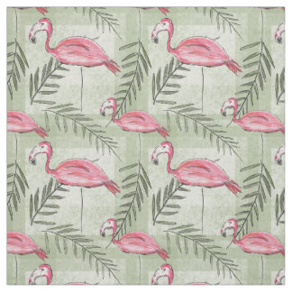 Pink Flamingo & Fabric