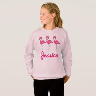 Pink Flamingo Flamingos Personalized Sweatshirt