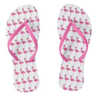 Pink Flamingo Flamingos Tropical Bird Flip Flops