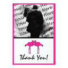 Pink Flamingo Flat Photo Thank You Cards