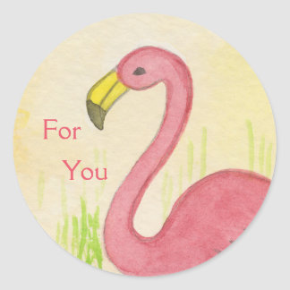Pink Flamingo for you sticker
