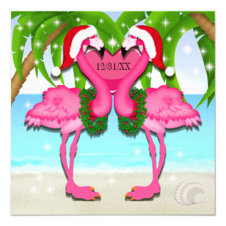 Pink Flamingo Fun Invitation #holidayZ