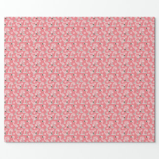 Pink flamingo gift wrap wrapping paper
