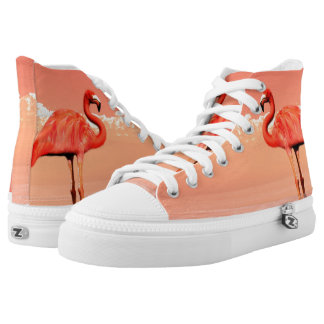 Pink flamingo high tops