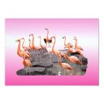 Pink Flamingo Invitation