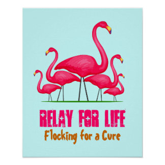 Pink Flamingo Lingo Poster