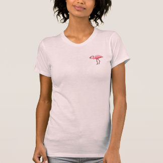 Pink Flamingo Logo Vacation Fun Bird T-Shirt