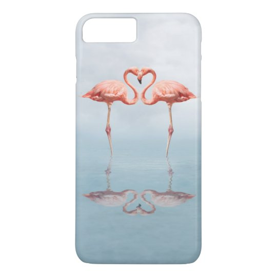 Pink Flamingo Love Barely There iPhone 7 Plus Case